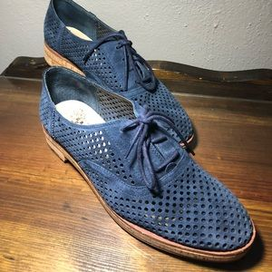 Vince camuto blue suede loafers
